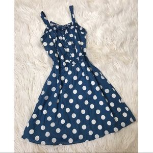 Marc By Marc Jacobs Midi Polka Dot Dress
